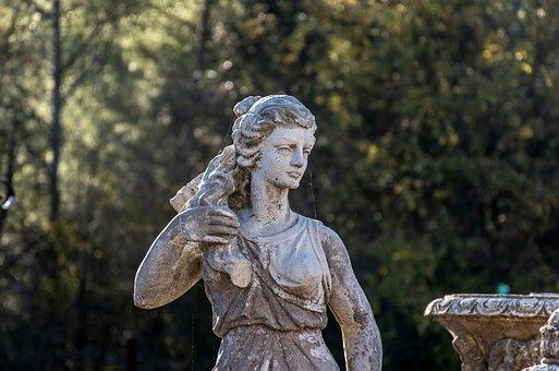 Marble Statue, Sculpture, Figure, Art, French Culture