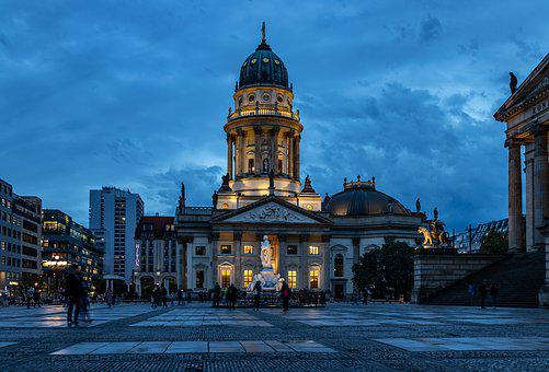 Blue Hour, Berlin, Berlin Cathedral, Sky, Building