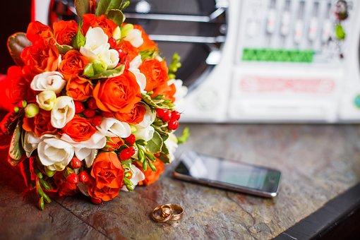 Bouquet, Wedding, Flowers, Roses, Celebration, Love