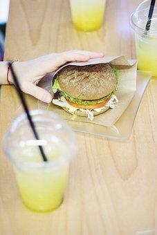 Vegan, Burger, Café