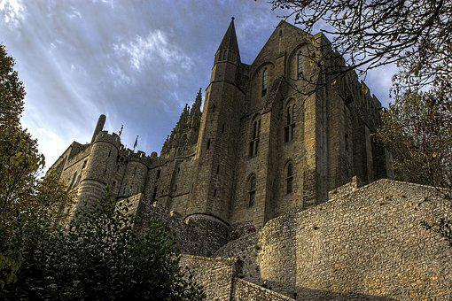 Mont St Michael, Castle, Cathedral, Island, Landmark