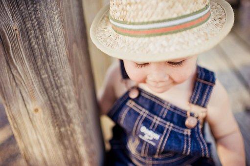 Boy, Hat, Summer, Toddler, Child, Cute, Portrait, Baby