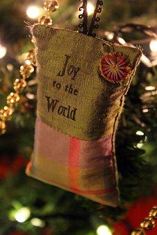 Christmas, Ornament, Joy, Lights, Christmas Tree
