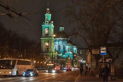 City, Landscape, Evening, Church, Architecture
