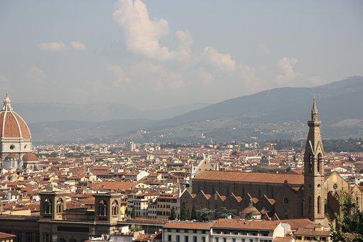 Italy, Florence, Architecture, Observation Deck, City