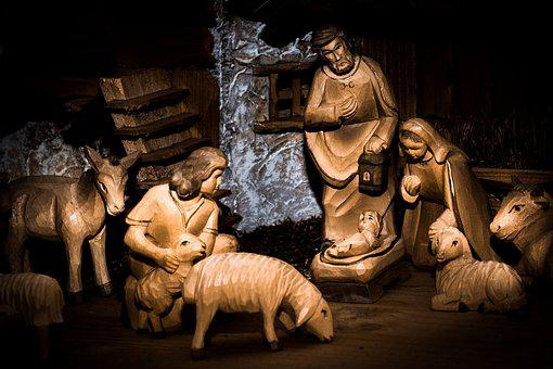 Crib, Bethlehem, Jesus, Religion, Christmas, Joseph