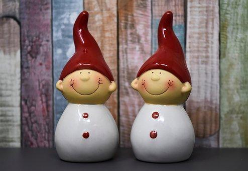 Imp, Ceramic, Cute, Decoration, Deco, Figure, Dwarf