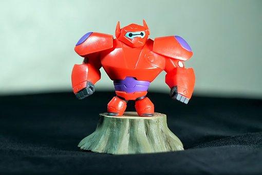 Robot, Red, Cute, Disney, Film, Animation, Cartoon, 3d