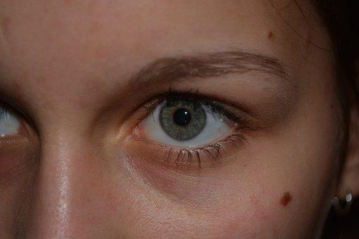 Eyes, Green, Face, Eyebrows, Woman, Female, Eyelashes