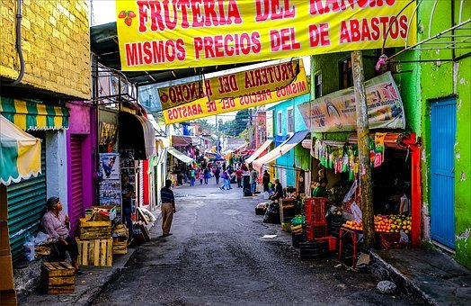 Market, Street, Mexico, Color, Fruit, Dirty Streets