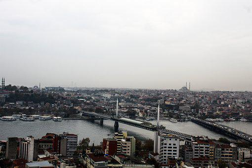 Istanbul, Galata, Eminönü, Bridge, Estuary, Marine