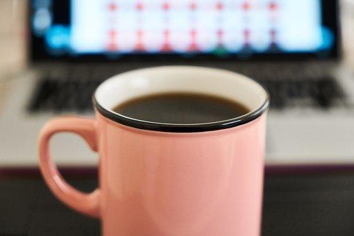 Coffee, Caffeine, Glass, Cup, Laptop, Espresso