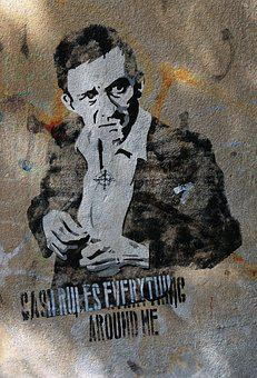 Graffiti, Man, Smoking, Cigarette, Wall, Lifestyle