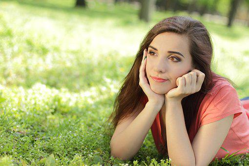 Attractive, Beautiful, Fun, Girl, Grass, Green