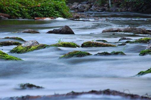 Water, River, Landscape, Inject, Wet, Movement, Blue