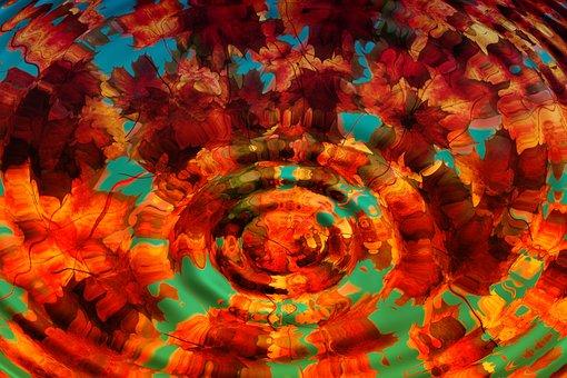 Maple, Leaves, Wave, Background, Pattern, Motif, Autumn