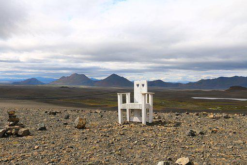 Nature, Lonely, Iceland, Landscape, Chair, Seat, Crown