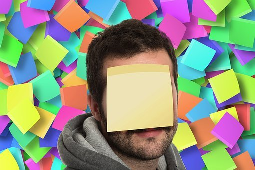 Post-it, Bulletin Board, Stickies, List, Man, Face