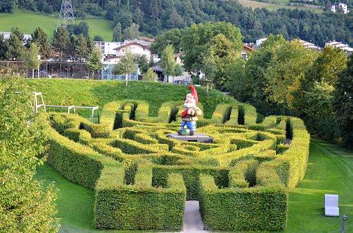 Swarovski Museum, Maze, Dwarf, Hand-maze, Labyrinth