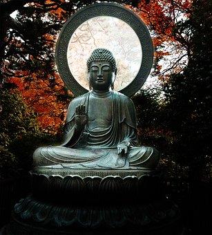 Meditation, Buddha, Statue, Lotus, Garden, Peace, Glow