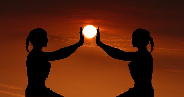 Sunrise, Yoga, Meditation, Woman, People, Relaxation