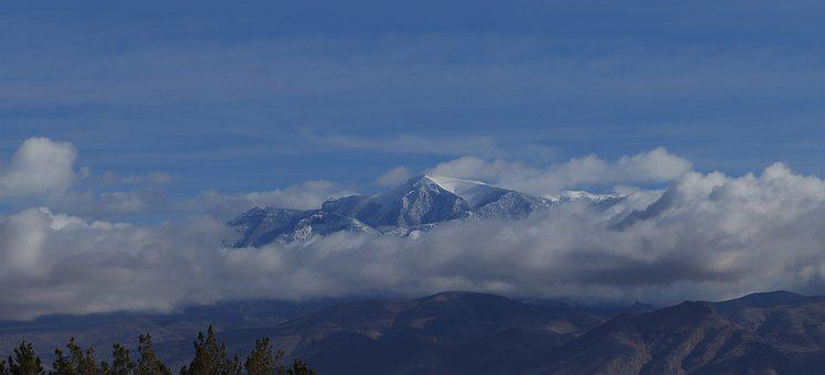 Mountain, Storm Clouds, Mount Charleston