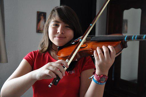 Girl, Music, Violin, Instrument, Musician, Instruments