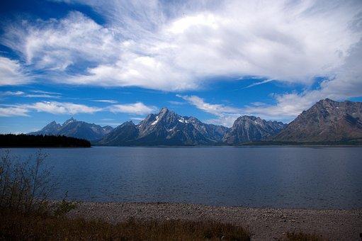 Lake Jackson, Lake, Mountains, Grand, Teton, National