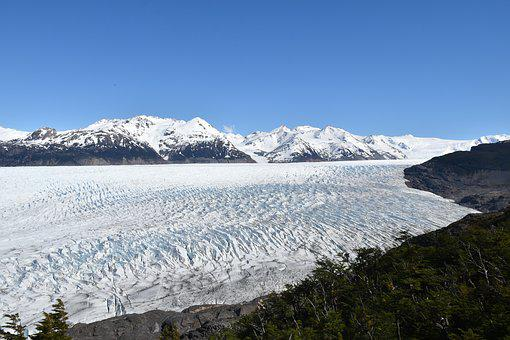Glacier, Torres Del Paine, National Park, Chile