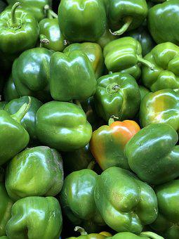 Bell, Pepper, Green, Vegetable, Raw, Ingredient