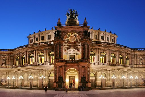 Semper Opera House, Places Of Interest, Night