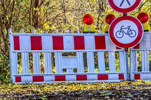 Roadblock, Ban, Passage, Locked, Pedestrian, Bike