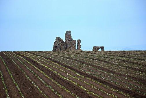 Campaign, Castle, Ruins, Country, Landscape, Nature