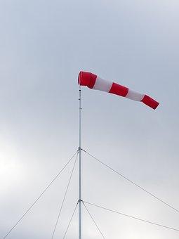 Wind Vane, Wind Direction Sensor, Wind, Sky, Grey