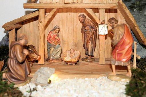 Christmas, Hl, Family, Nativity Scene, Stall