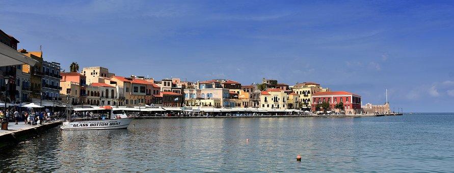 Xania, Chania, Greece, Crete, Summer, Sea, Port, Sunny