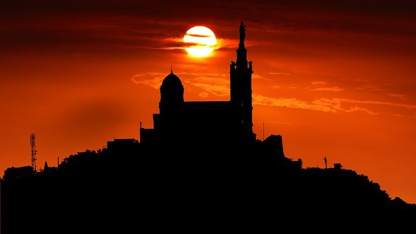 Sunrise, Architecture, Cathedral, Marseille, City