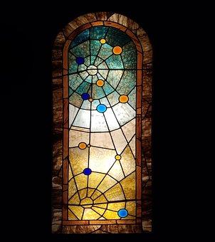 Stained Glass Window, Vintage Window, Glass