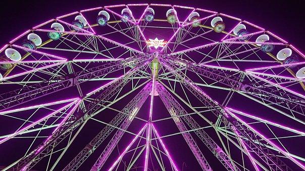 Light, Electric, Ferris Wheel, Wheel, Manege