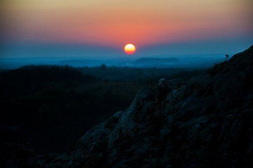 Sunset, Nature, Forest, Castle Olsztyn, Alive, Color