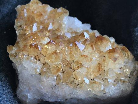 Citrine, Amethyst, Crystals, Macro, Gems, Minerals