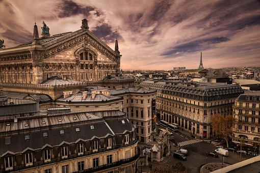 Paris, View, France, Perspective, Architecture, Opera