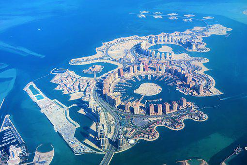 Artificial Islands, Qatar, Doha, Panorama, Architecture