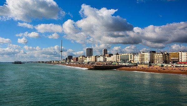 City, Side, Landscape, Building, Beach, Architecture