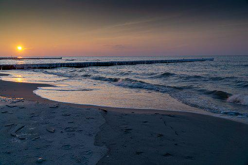 Beach, Sunset, Sea, Water, Summer, Sun, Wave, Coast