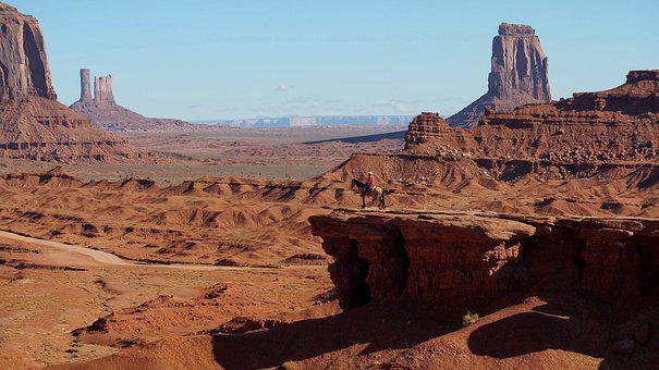 Monument Valley, Blue Sky, America, Utah, Sand