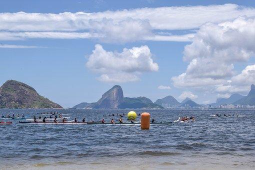 Canoeing, Landscape, Nature, Scenario, Mar, Boat