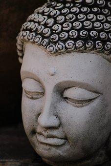 Buddha, Stone, Head, Buddhism, Religion, Meditation