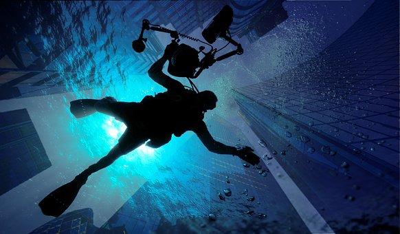 Building, Ocean, Diving, Place, Sport