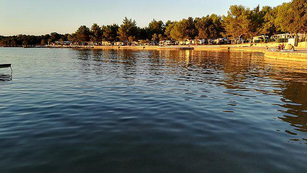 Croatia, Vrsar, Camping Orsera, Vacations, Swim, Sea